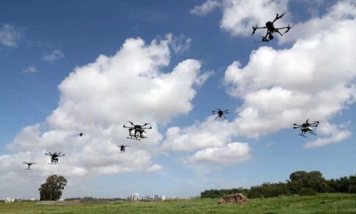 A delivery drone demonstration in Haifa, Israel.